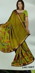 Floral Printed Saree, 6 m (with blouse piece)
