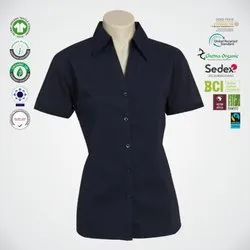 Fair Trade Organic Cotton Ladies Half Sleeve Shirts