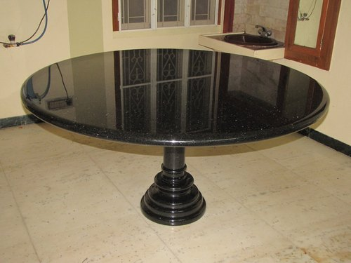 Jet Black 4ft X 4ft Dia Black Granite Dining Table Rs 32000 Piece Id 20916985648