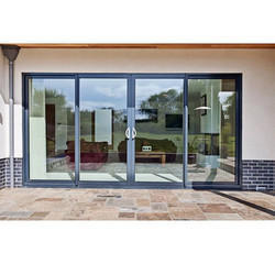 Aluminium Centre Operable Sliding Door