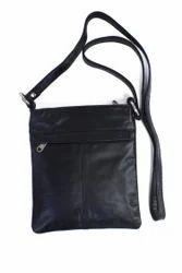 Genuine Leather Ladies Black Sling Bag