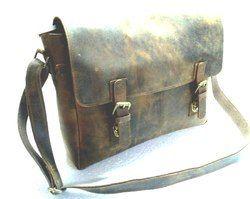 Vintage Leather Laptop Shoulder Bag