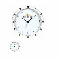 Plastic And Glass Battery Fancy Wall Clock, Packaging Type: Box