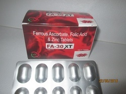 Ferrous Ascorbate With Folic Acid and Zinc Tablets, Packaging Type: Box