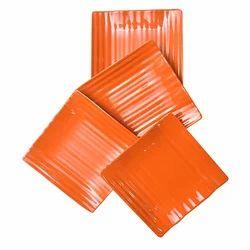 Utensza Melamine Square Snack Plate - 4 Pcs(musk)