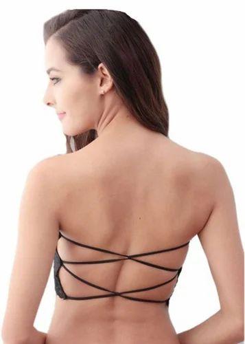 0b1547ca6e9 Padded 90% Nylon   10% Spandex Black Color Women  s Tube Bra