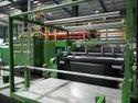 Flat Industrial Carpet Fabric Extrusion Coating Lamination Plant Line Machine India