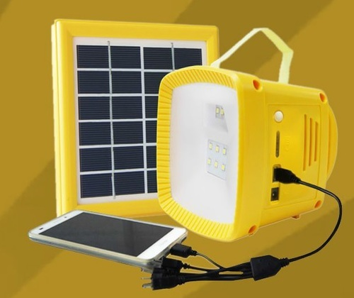 Yellow Solar Camp Light Box