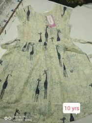 Kids Cotton Casual Daily Wear Frocks 10yrs