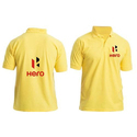Yellow Collar Neck Customized Promotional T-Shirt
