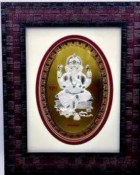 Silver Coin Ganesh Frame