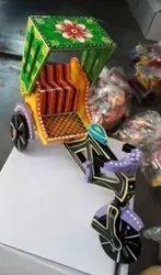 Wooden Handpainted Rickshaw