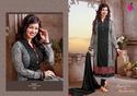 Georgette Black & Grey Embroidered Salwar Kameez