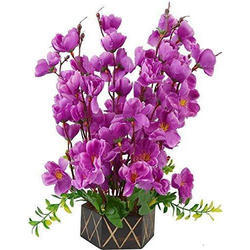 Artificial Purple Blossom Flowers Bunch