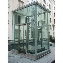 Stainless Steel And Glass Residential Lift, Capacity: 10-12 Persons