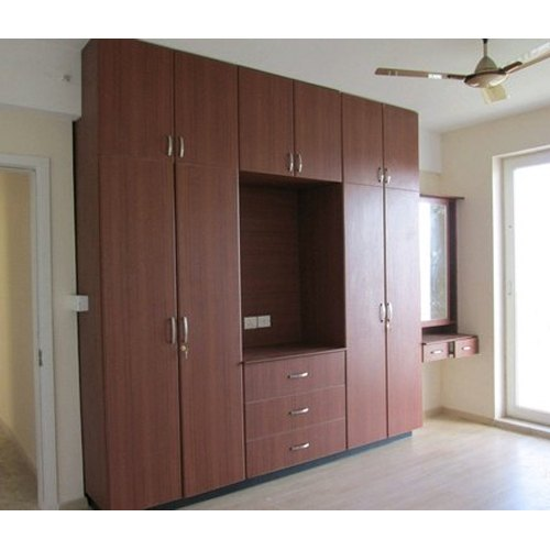 Brown Bedroom Wooden Wardrobe