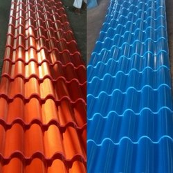 Aluminium Color Coated Troughed Roofing Sheet