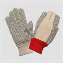 Full Fingered Canvas Cotton Drill Dotted Gloves