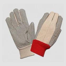 全手指帆布棉钻头虚线手套