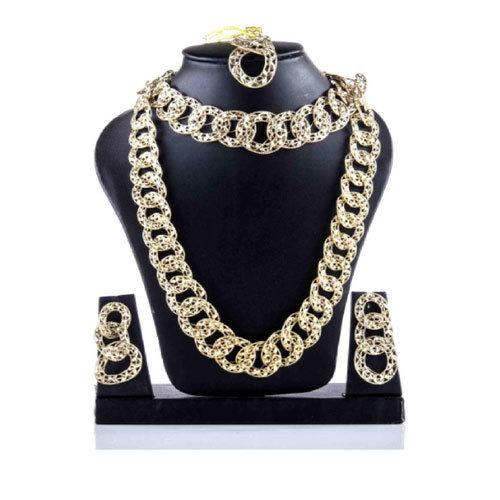 Golden And Party Fancy Necklace Set