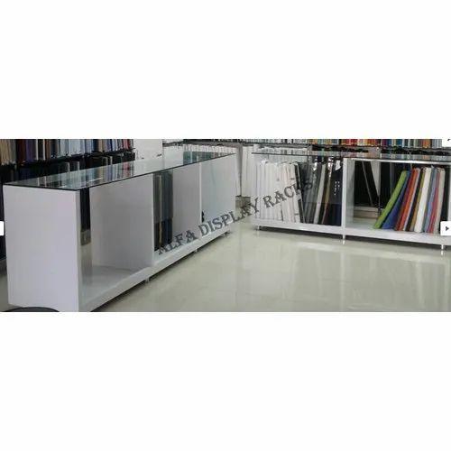 Mild Steel Textile Glass Counter