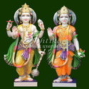 Laxmi Vishnu Marble Statue