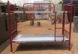 Mild Steel Blue Bunk Cot For Hostel