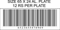 Aluminium Barcode Plate