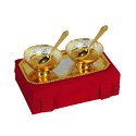 Marriage Gift Silver and Gold Plated Set