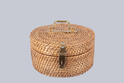 Round Jewellery Wicker Box