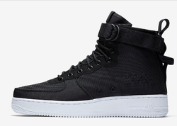buy online 00005 2a143 Men Black White Anthracite Nike Sf Air Force 1 Mid S Shoe, Size