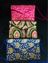 Envelope Embroidered Clutch Bags