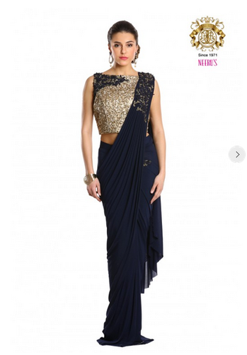4be42e8eeec Classic Navy Blue Saree By Neerus at Rs 20580  piece