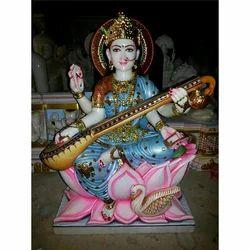 Multicolor Saraswati Statue