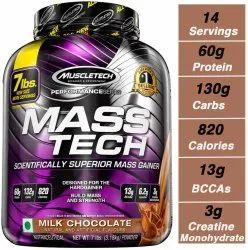 Muscletech Masstech Gainer, 3.2kg, Non prescription
