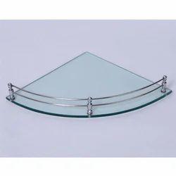 18 Inch Glass Corner Shelf
