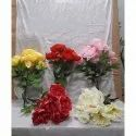 D2498 Artificial Peony Bunch For Decoration, Packaging Size: 240 Pieces