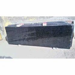Black Granite Slab, 16 To 17 Mm