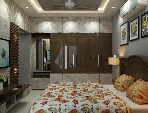 One Bedroom Complete Interior Work Minimum Kitchen Design Service Provider From Kolkata