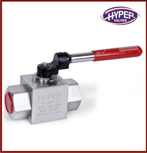 Stainless Steel Screwed End High Pressure Ball Valve, Size: 15 To 40 Mm