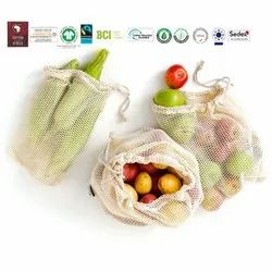 Natural Recycle Organic Cotton String Bag