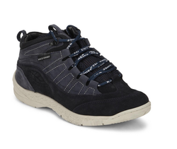 Dark Blue Mid Ankle Leather Casual Shoes