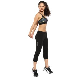 Stretchable Black Ladies Gym Capri