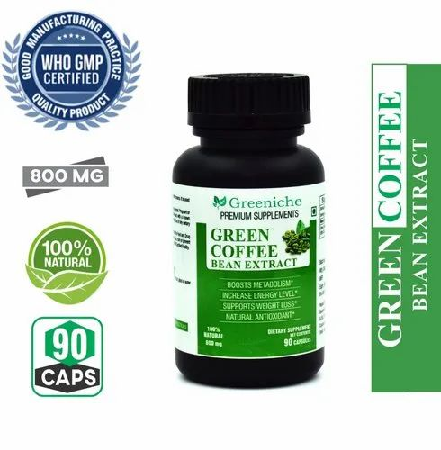 Greeniche Green Coffee Bean Extract 800mg 50 Cga For Weight Loss