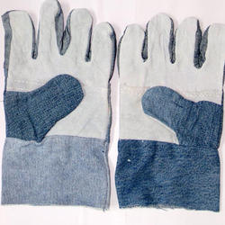 Jeans Leather Hand Gloves