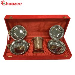 Choozee - Copper SS Handi, Bucket and Kadhai (5 Pcs)