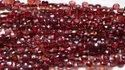 AAA Natural Mozambique Garnet Heart Drops Shape Faceted Briolette Craft Loose Beads Strands