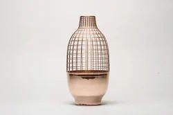 Glossy Shiny Copper Finish Vase, Size: Medium, Shape: Bottle Shaped