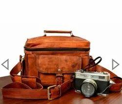 Vintage Brown Genuine Leather Camera Bag