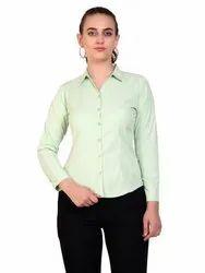 ZX3 Plain Ladies Formal Casual Cotton Full Sleeve Shirt